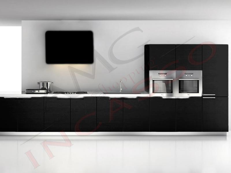 Cappa Cucina Moderna 80 TD314BC Quadra Inox-Vetro Nero | AMG ...
