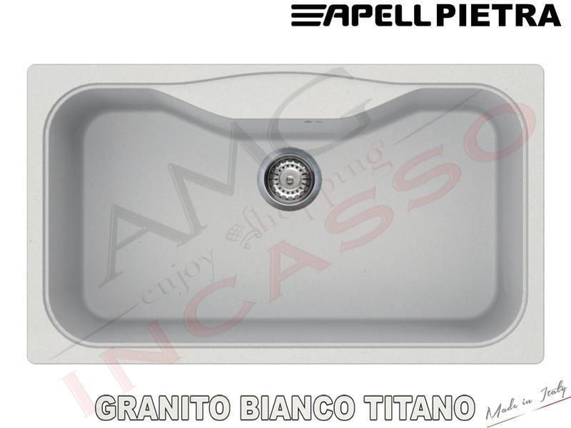 Lavello Cucina 1 Vasca / Vascone cm.86X50 Pietra Fragranite Bianco ...